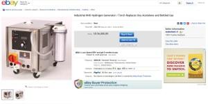 KT20-120 Industrial Hydrogen Generator / Torch on Ebay